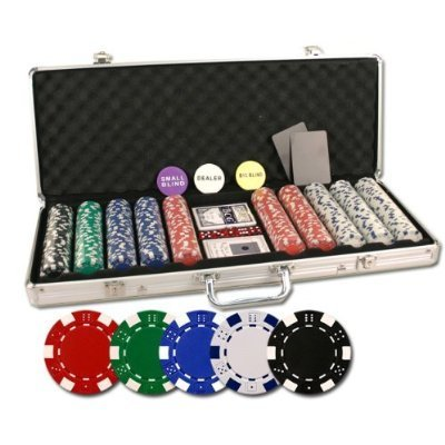 500pc Executive 11.5g Dice Style Poker Chip Set