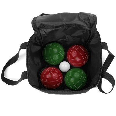 9 Piece Bocce Ball Set With Nylon Carry Case