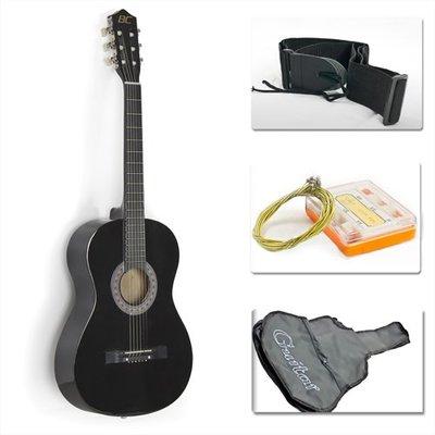 "38"" Black Acoustic Guitar Starter Package"