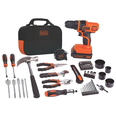 Black & Decker Lithium-Ion Drill and Project Kit