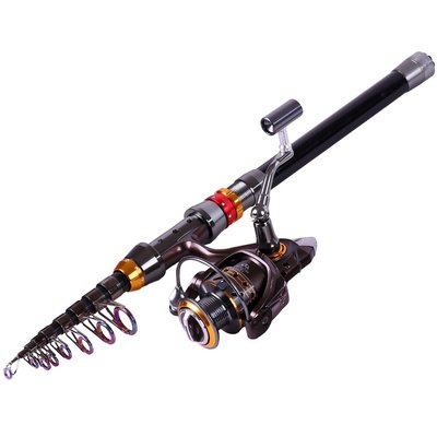 Carbon Telescopic Fishing Rod with 13bb Fishing Reel