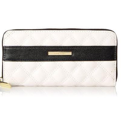 Anne Klein Shimmer Down Zip Around Wallet