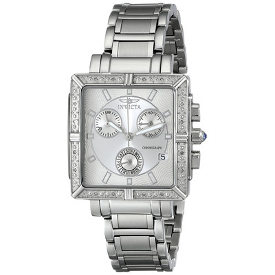 Invicta Angel Diamond-Accented Stainless Steel Watch