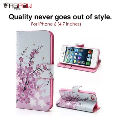 TabPow Classic Cherry Blossom Flip Wallet for Apple iPhone 6