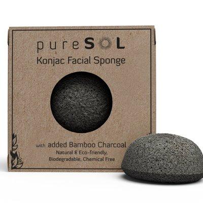 Konjac Activated Charcoal Facial Sponge