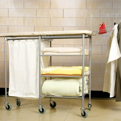 LifeStyle Mobile Laundry Ironing Center with Shelves