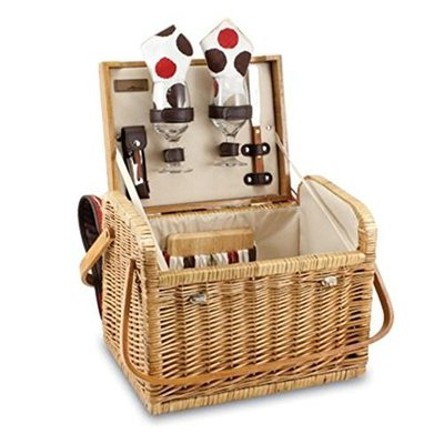 Kabrio Willow Wine & Cheese Picnic Basket