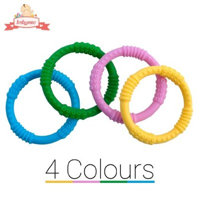 BEST Baby Teether - 4 Colour Silicone