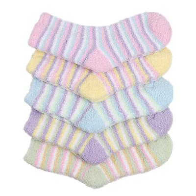 Haslra Premium Soft Warm Microfiber Fuzzy Socks 5 Pairs