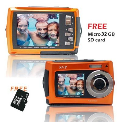 SVP 18MP Dual Screen Waterproof Digital Camera