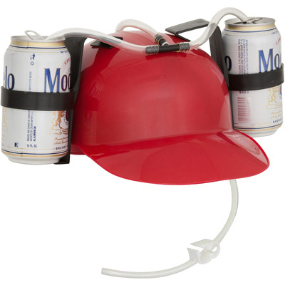 Red Drinker Beer and Soda Guzzler Helmet