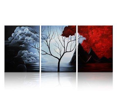 Santin Art- Modern Abstract Painting the Cloud Tree