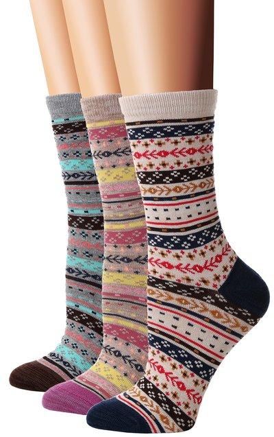 Flora & Fred Women's 3 Pair Pack Vintage Socks